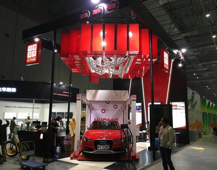上海电梯展会展位设计案例