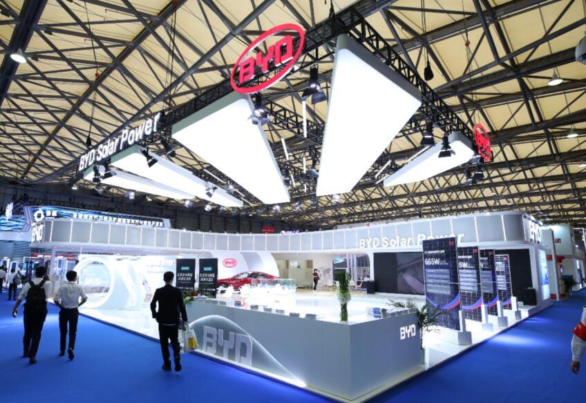 2021上海比亚迪太阳能展台搭建 太阳能展览展台搭建案例